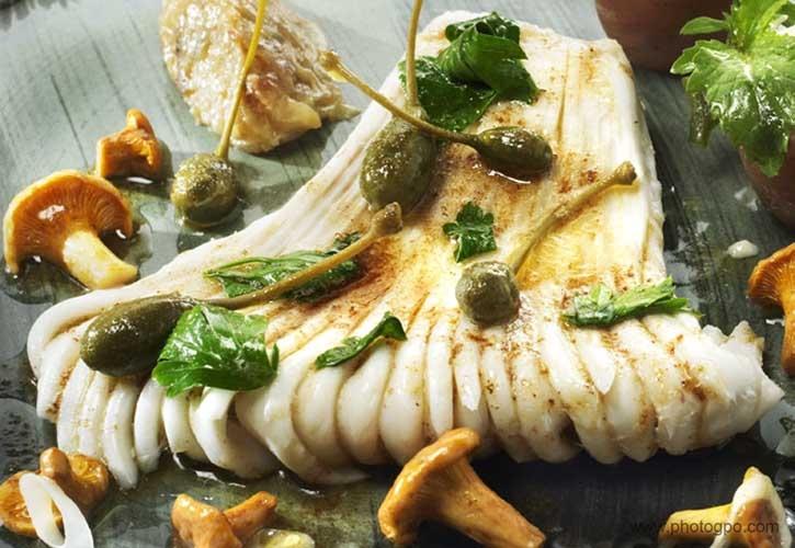 Photo culinaire capre champignon