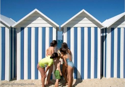 carantec cabine de plage